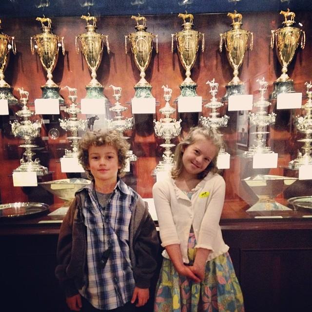 Calumet Farm's Kentucky Derby, Preakness, & Triple Crown trophies