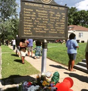 Historical Marker outside Muhammad Ali's Boyhood Home