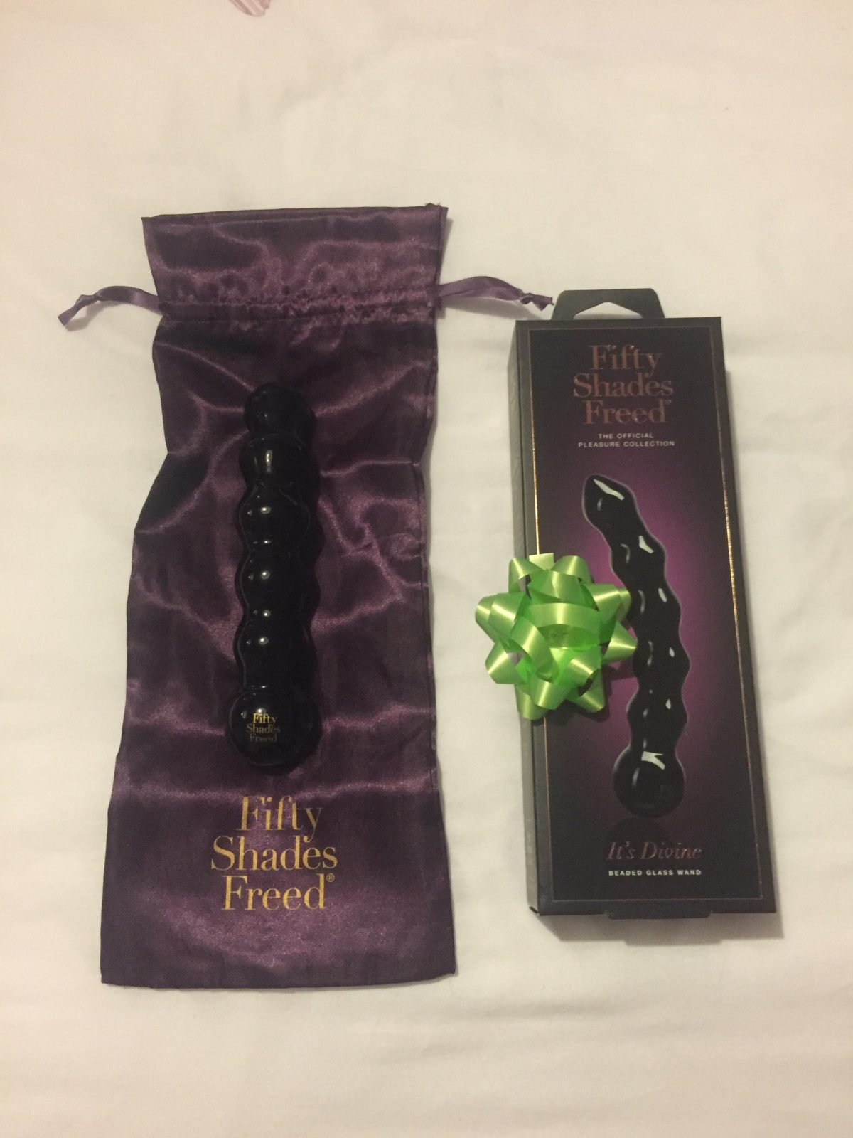 Luv Bunny's One Year Blogiversary: Win a Fifty Shades Freed It's Divine Black Glass Beaded Dildo