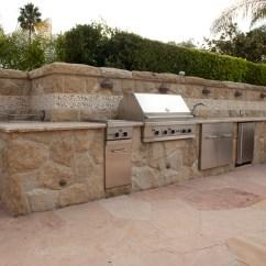 Backyard Kitchens Tall Kitchen Bin Built In Santa Barbara N Barbeque
