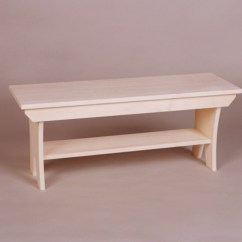 Unfinished Kitchen Cart Of India Country Bench With Shelf – 21 Series