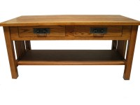 3010 Mission Red Oak Coffee Table | Down to Earth Wood