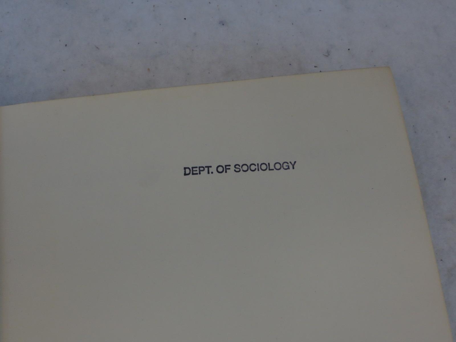 Robert E L Faris Handbook Of Modern Sociology Rand