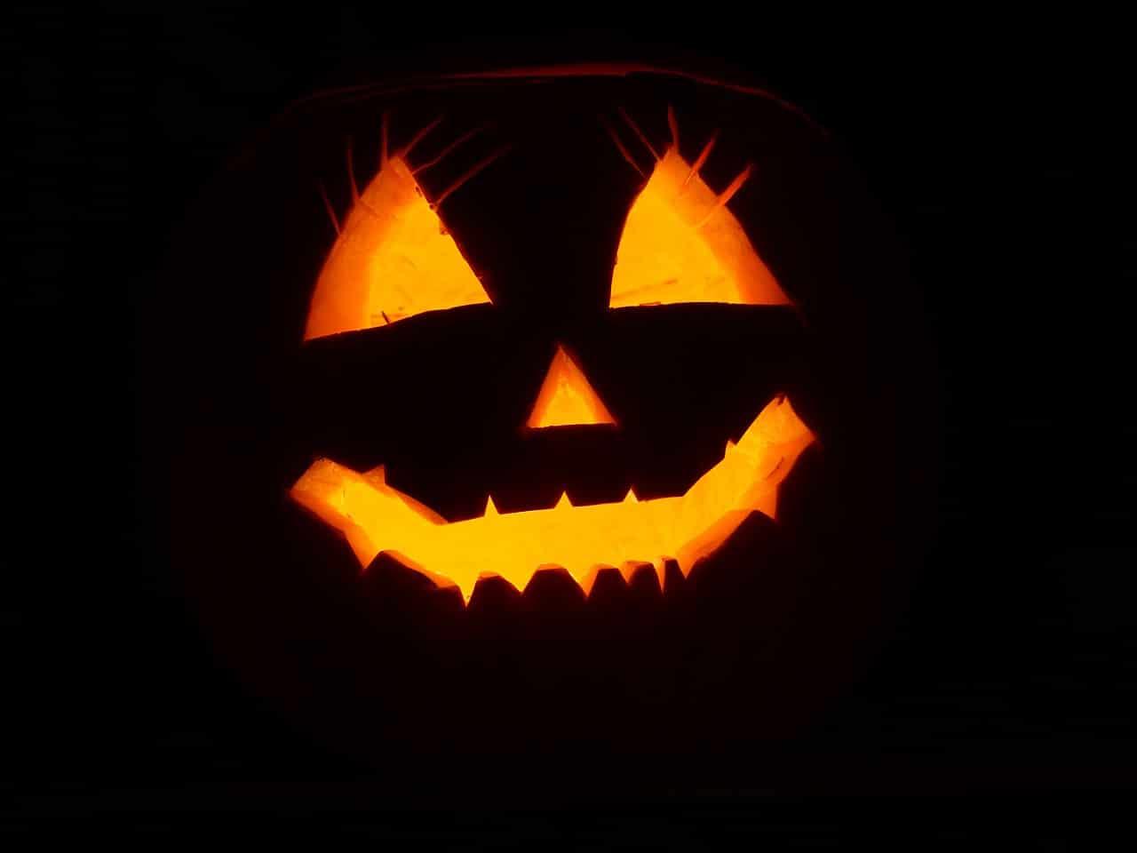 a spooky halloween in