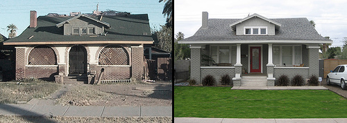 Before and after: 910 E. Pierce St.