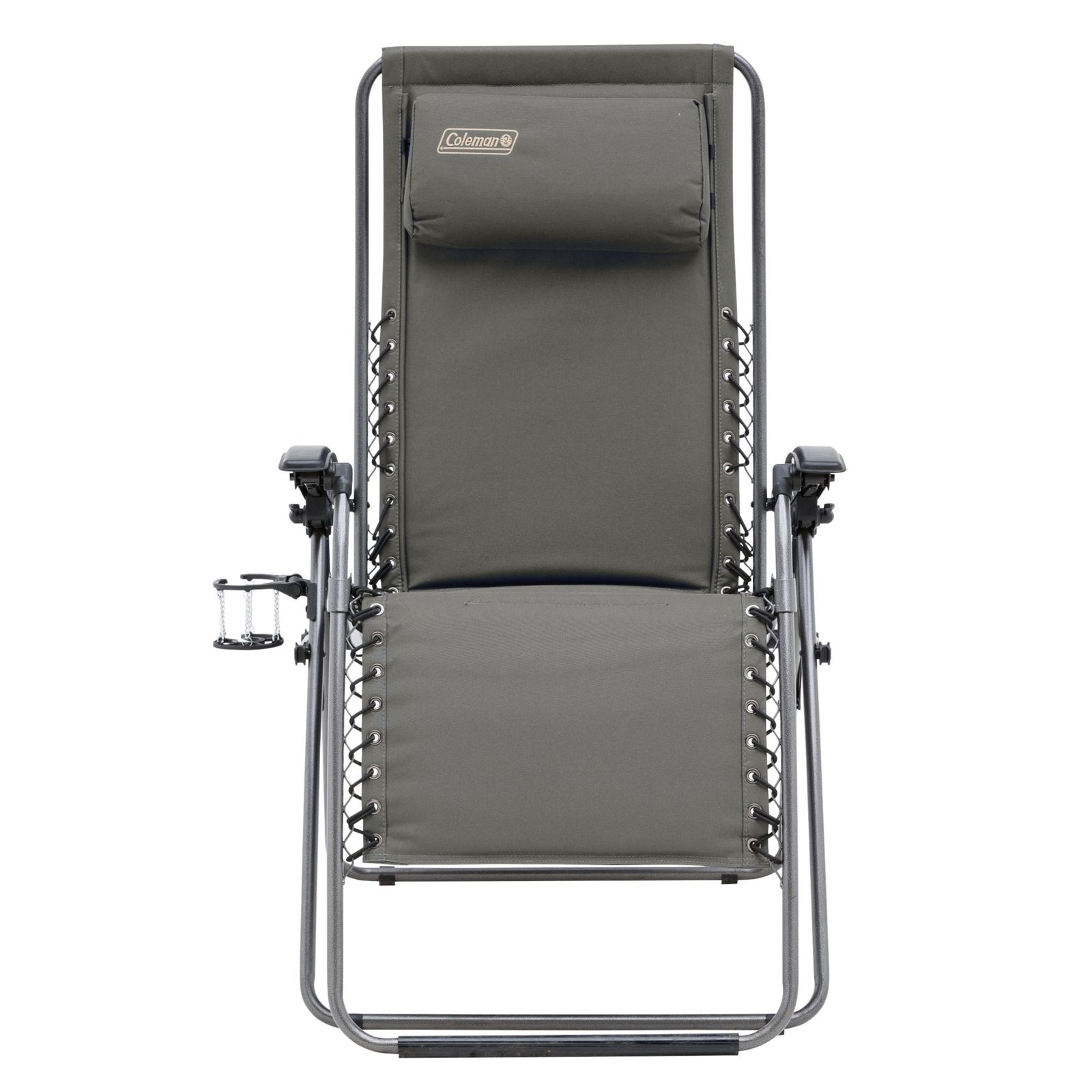 coleman chair accessories wood log chairs flat fold layback lounger charcoal grey