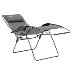 Coleman Chair Accessories Table And Chairs Rental Flat Fold Layback Lounger Charcoal Grey
