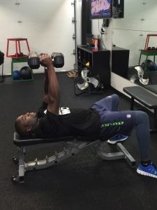 gym chest chair covers in cape town week 4 workout back do work fitness studio lie on a decline bench or hold dumbbell of desired weight each hand extend your arms straight up over