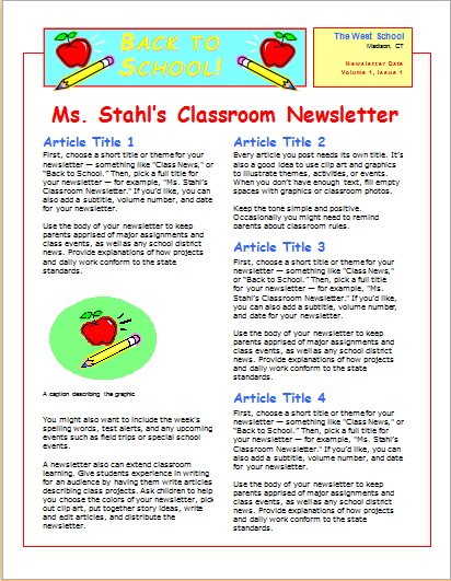 15 Editable NEWSLETTER TEMPLATES For MS WORD Document Hub