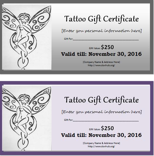 travel certificate template