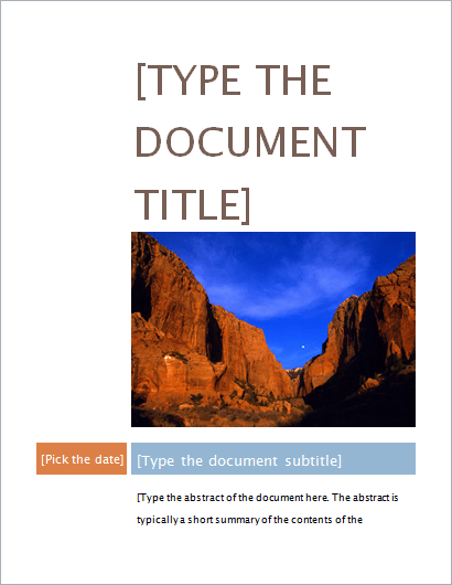Project Cover Page Templates For MS WORD Document Hub