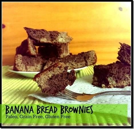 Paleo Banana Bread Brownies