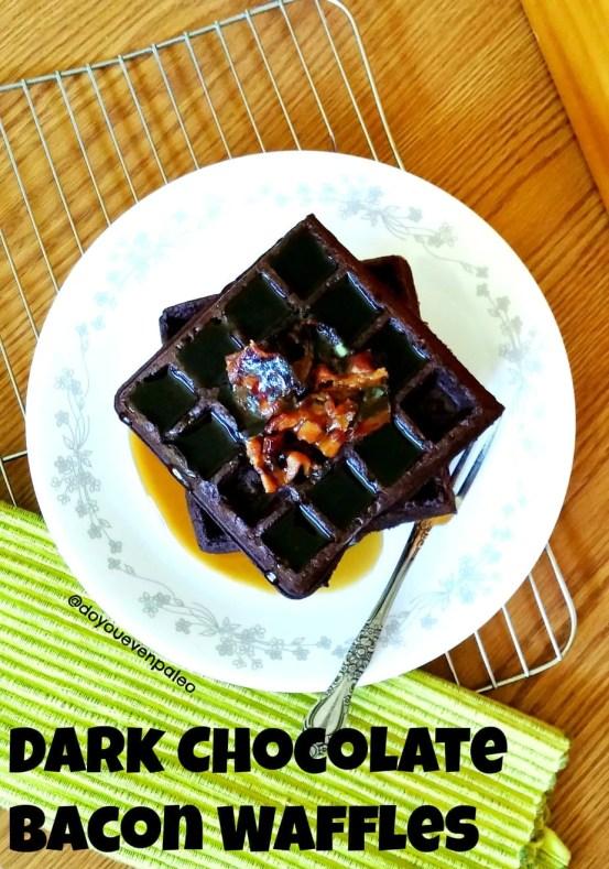 Dark Chocolate Bacon Waffles