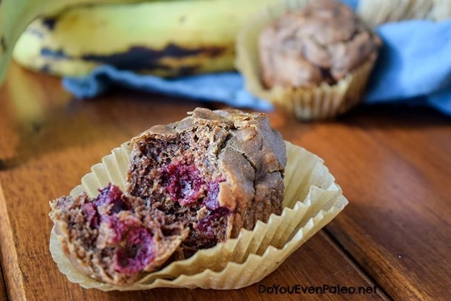 Cherry Plantain Muffins