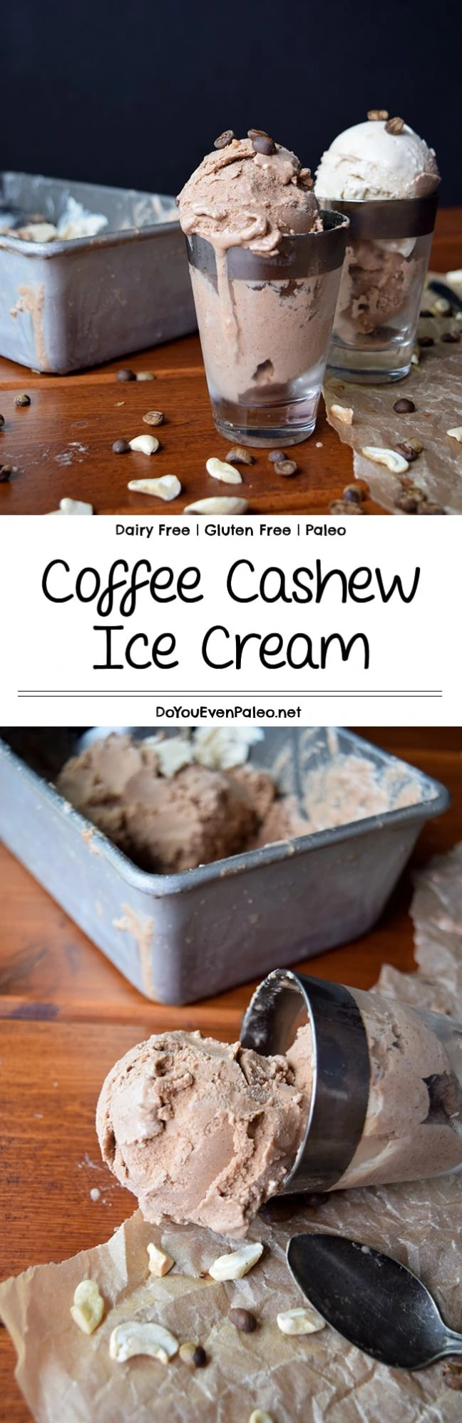 Coffee Cashew Ice Cream - an incredibly thick and creamy ice cream made with cashews and cold brew coffee - a match made in heaven! #glutenfree #paleo #dairyfree | DoYouEvenPaleo.net