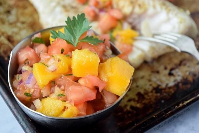 Grilled Walleye with Mango Salsa | DoYouEvenPaleo.net
