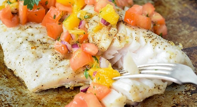 Grilled Walleye with Mango Salsa | DoYouEvenPaleo.net