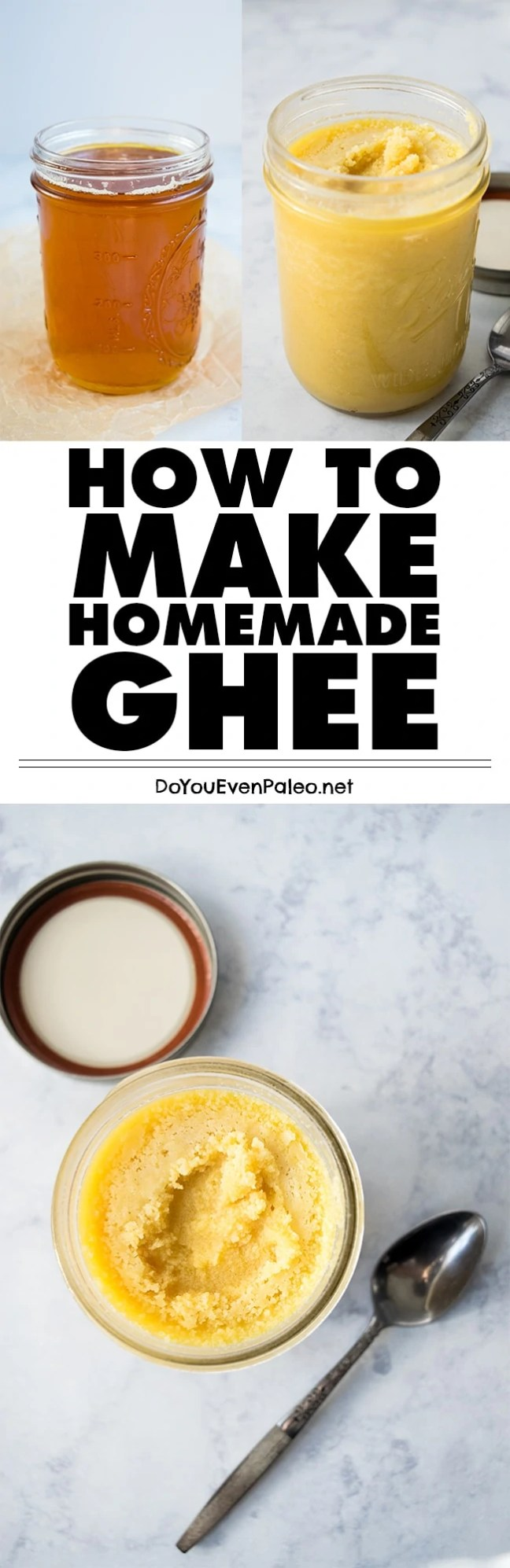 Making your own ghee is way easier than you might think. Find out how to make homemade ghee, a dairy free staple! | DoYouEvenPaleo.net