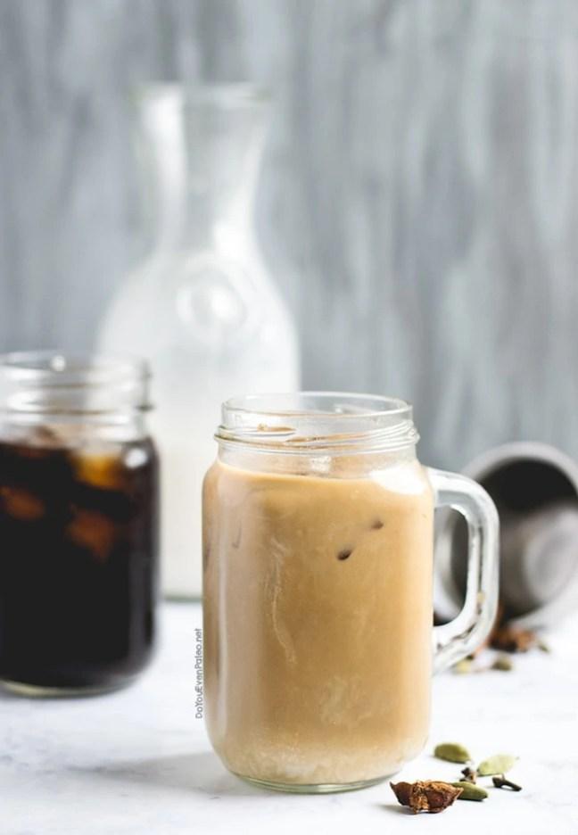 Chai-Spiced Cold Brew Latte   DoYouEvenPaleo.net