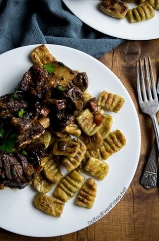 Paleo Plantain Gnocchi with Savory Braised Short Ribs | DoYouEvenPaleo.net