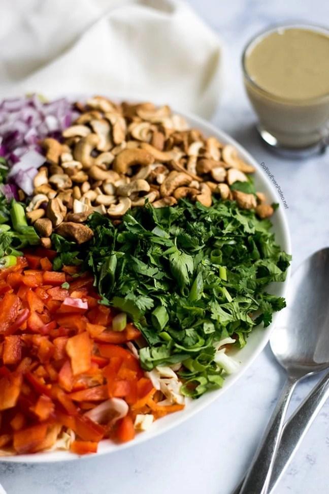 Thai Cabbage Salad with Sunbutter Dressing   DoYouEvenPaleo.net