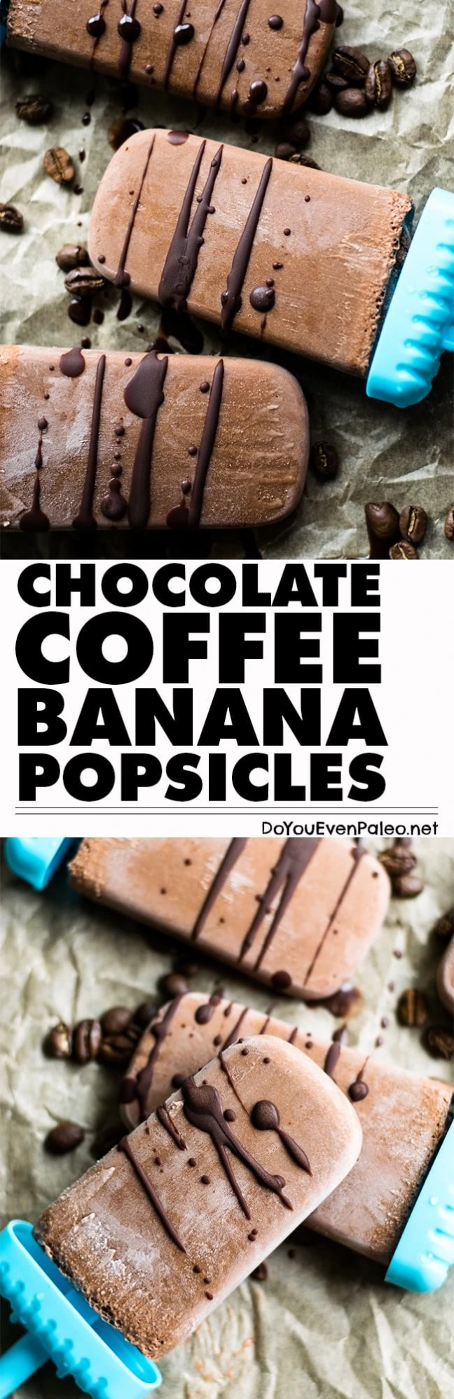Chocolate Coffee Banana Popsicles are the best way to start your day! Only 5 ingredients and they're paleo, gluten free, vegan, and unsweetened. | DoYouEvenPaleo.net