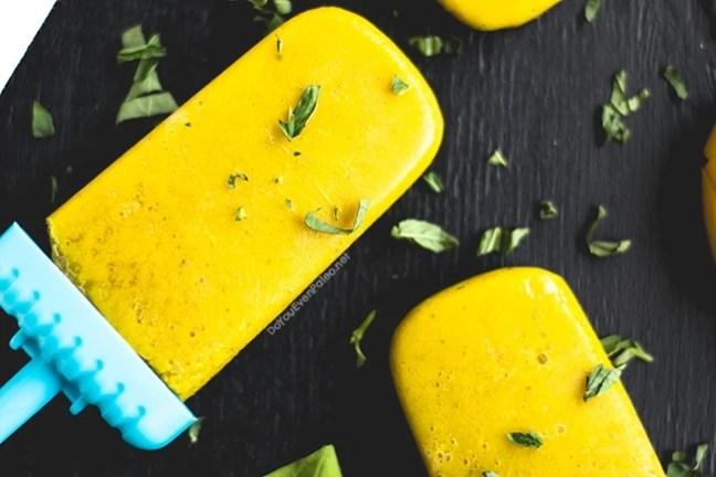 Mango Basil Popsicles | DoYouEvenPaleo.net