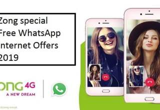 Zong special free Whatsapp internet offer 2019