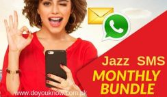 jazz monthly sms package