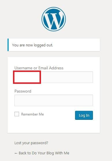wordpress step 9 test again your new password