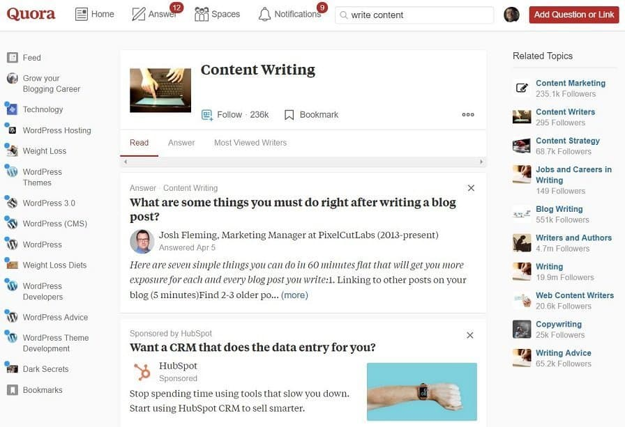 Quora questions and answers site