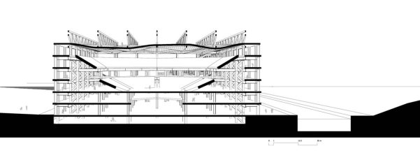 cross section on auditorium