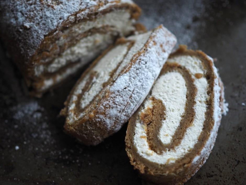 Flourless Rutabaga Roulade with Cardamom Cream (Kålrabirullekake med kardemommekrem)