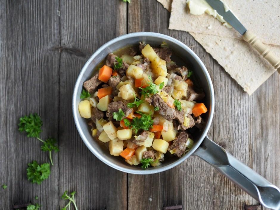 Norwegian Beef and Vegetable Stew (Brun Lapskaus)