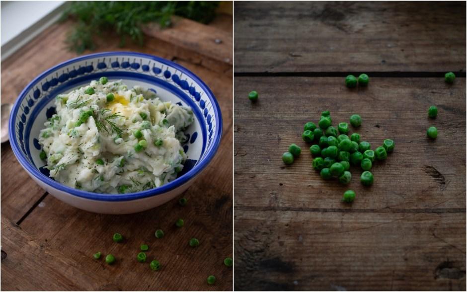 Norwegian sosekjøtt and Spring Mashed Potatoes