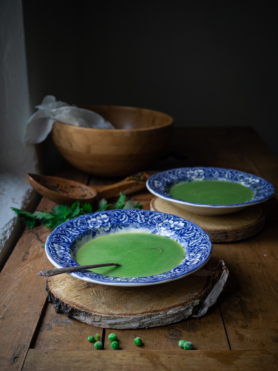 Wild Nettle and Pea Soup (Brenneslesuppe med erter)