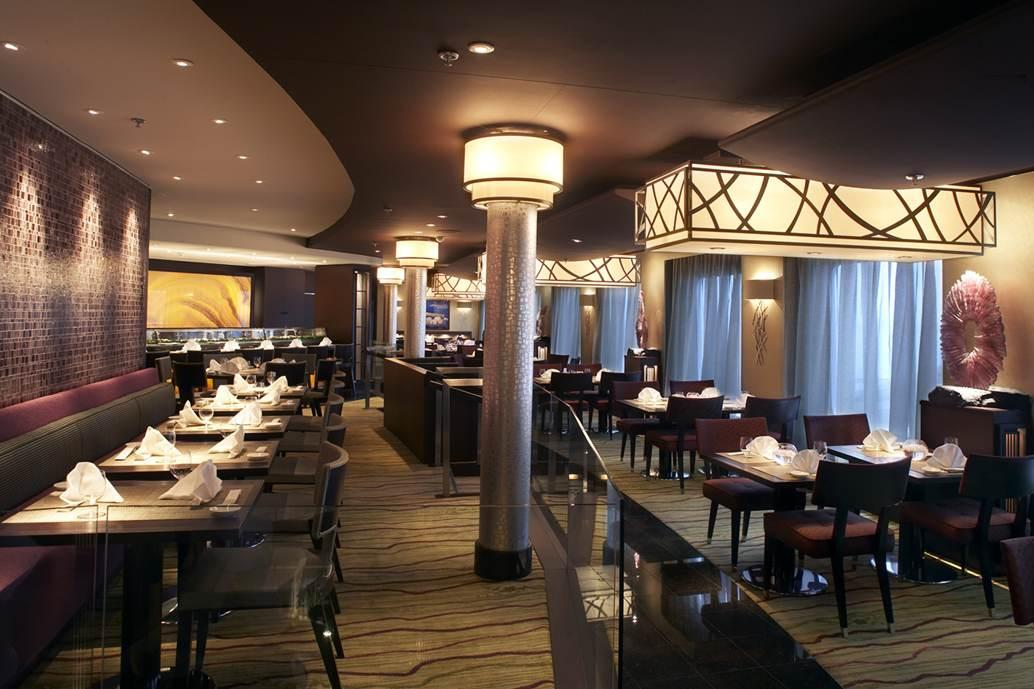 Silk Road Restaurant Crystal Symphony Cruise Ship  dpa lighting consultants  Right Light