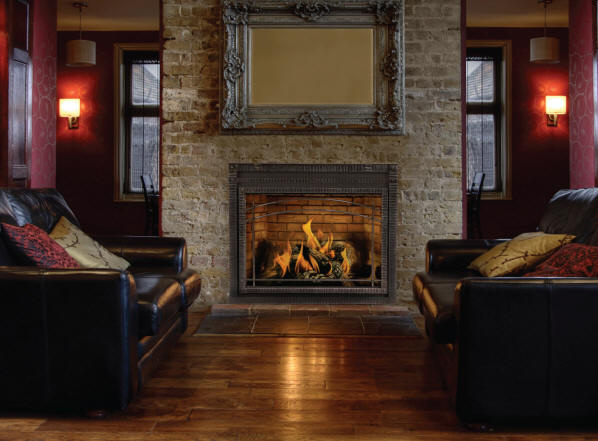 Local Fireplace Reface Contractors  We do it all Low Cost  Tile Over Fireplace Tile Brick
