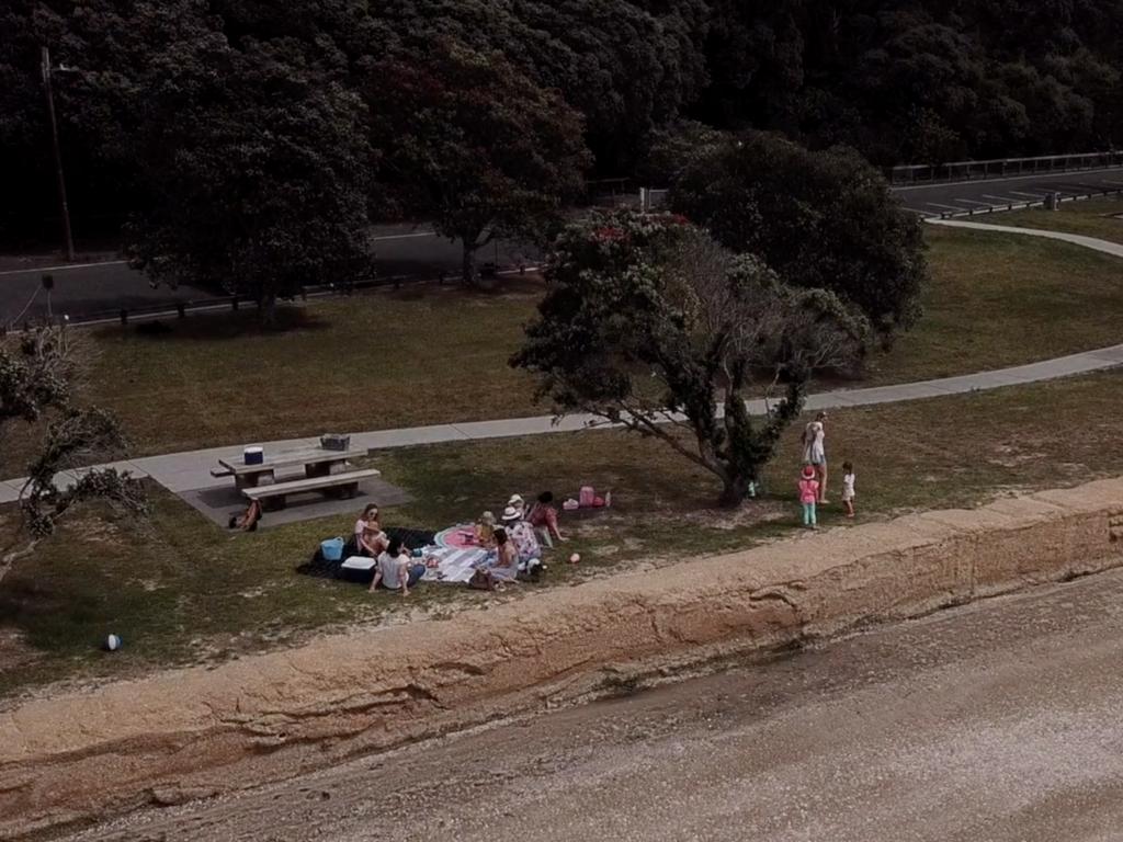 Family picnic coast