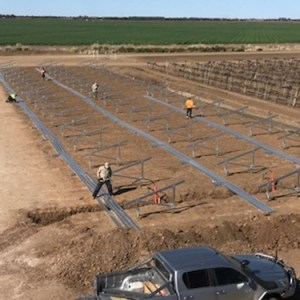 Ground mounted solar project, Griffiths NSW