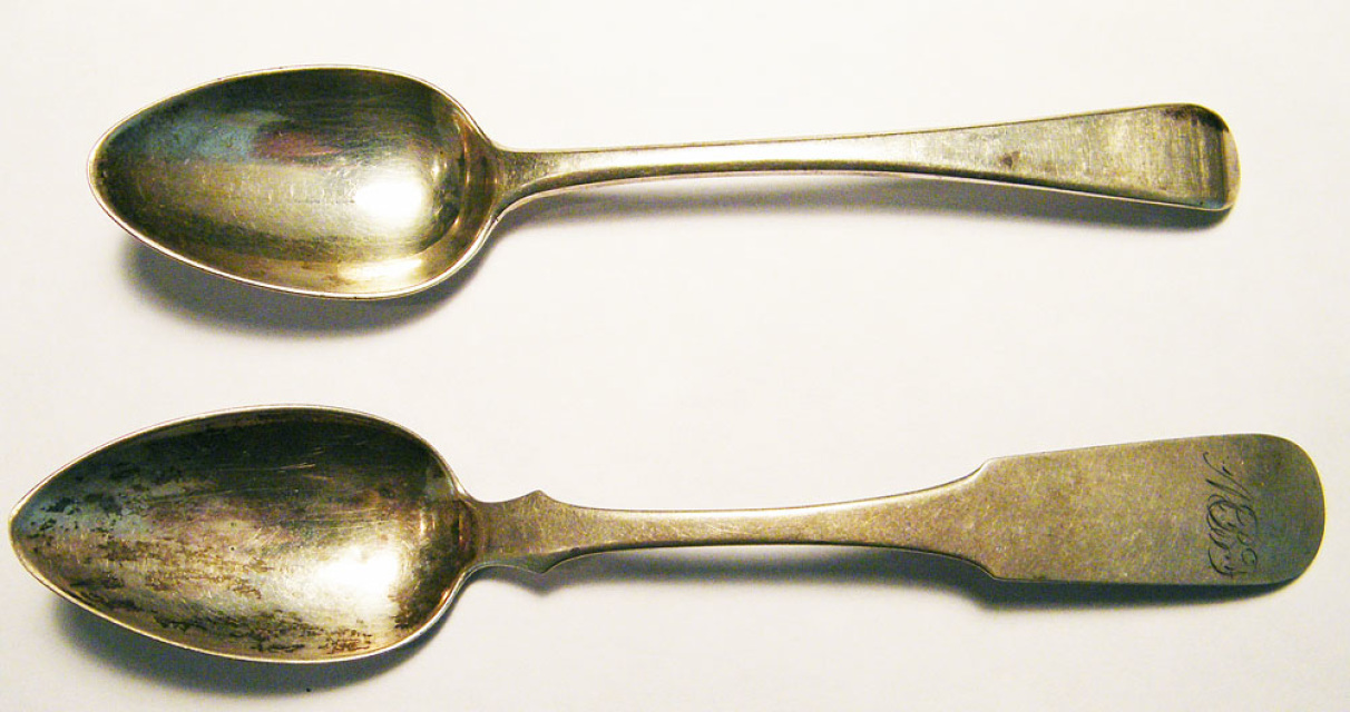COIN SILVER SPOONS 19SPOONS