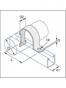 Unistrut Trunking Metal Single Compartment 50x50