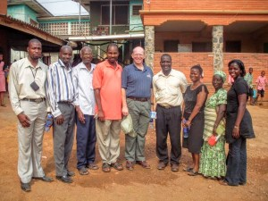 Photo of me and leaders at a Nigerian deaf school.