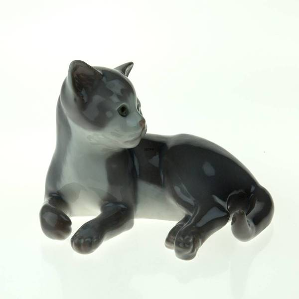 Cat Figurines Royal Copenhagen And Bing & Grondahl