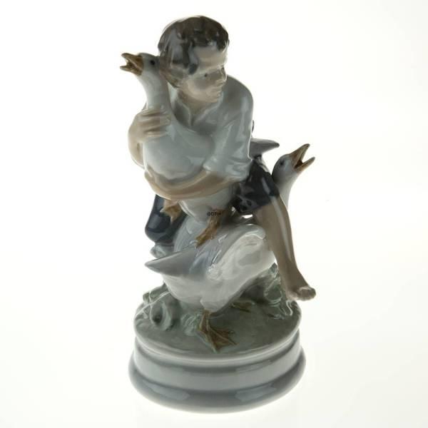 Goose Thief Boy With Geese Royal Copenhagen Figurine