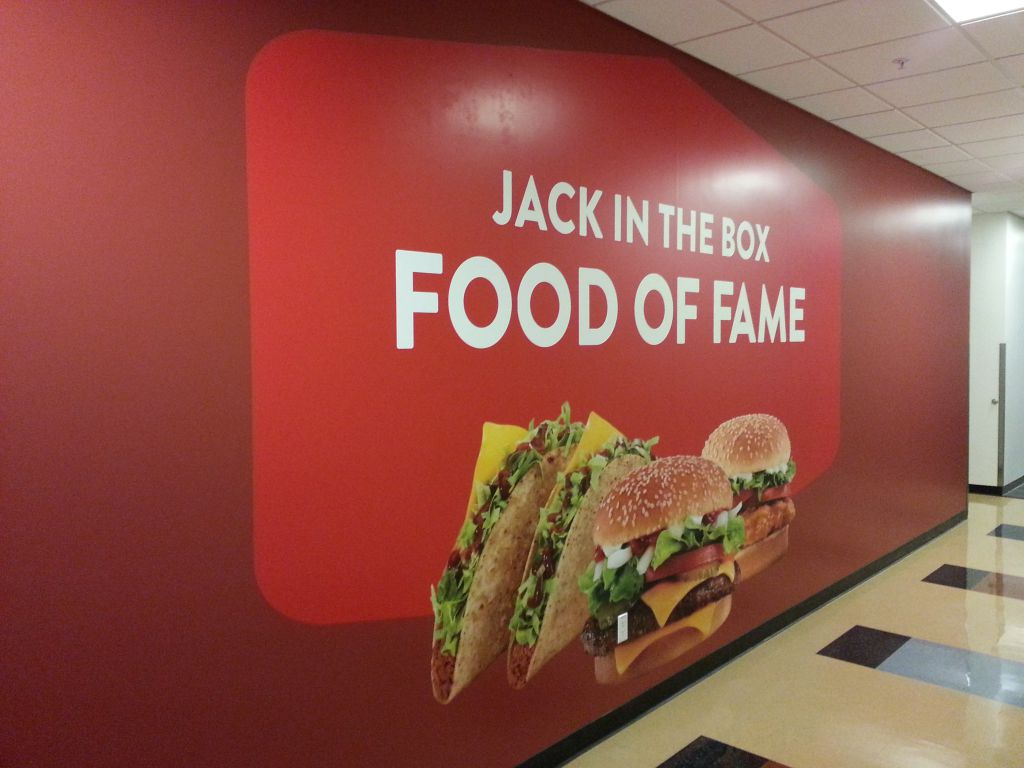 Jack in the Box Headquarters  Offset Printing  Large Format Graphics