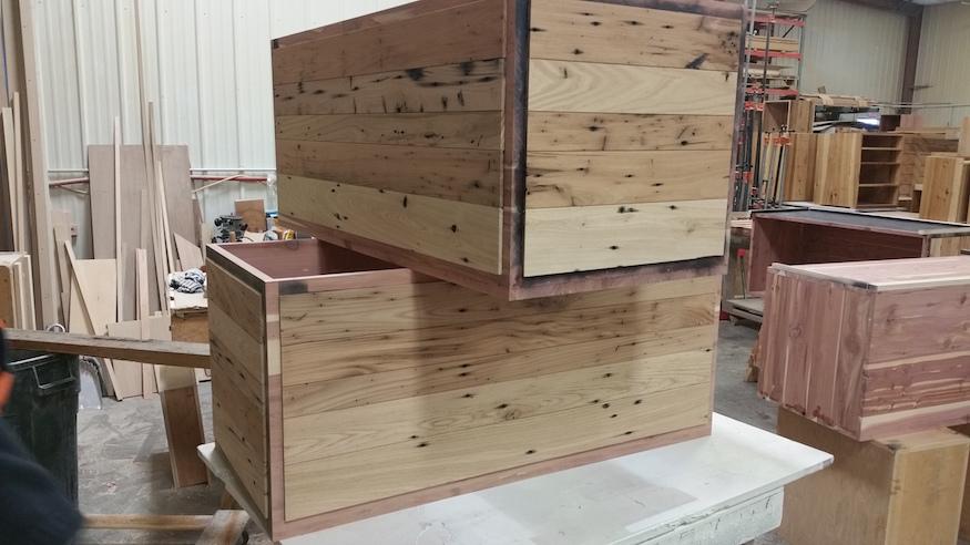 Wormy Chestnut Cabinets