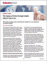 Urgency of Better Strategic Insights