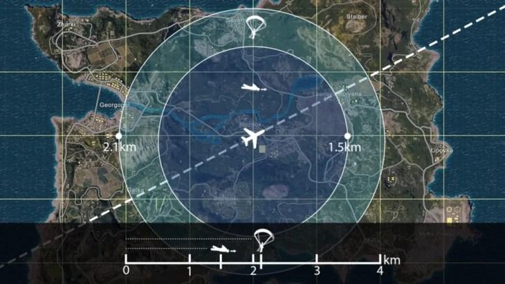 「PUBG」パラシュートで遠くまで飛ぶ方法やパラシュートで届く最大距離