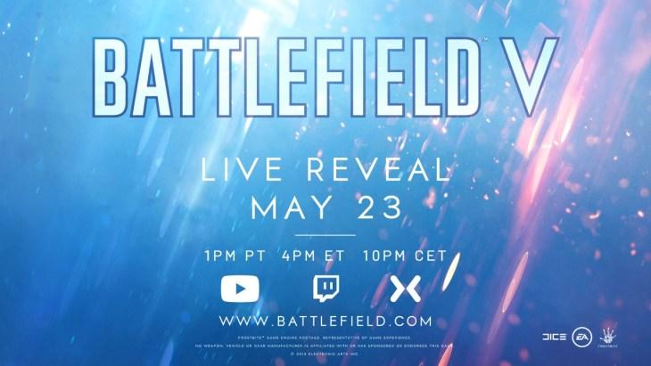 『Battlefield V』正式発表。5月24日に行われるライブ配信にて初公開へ